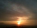Sun setting over the Dublin Mountains II