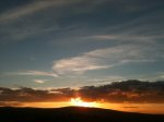 Sun setting behind the Dublin Mountains I
