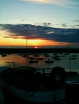 Sunset over Dun Laoghaire Harbour