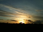 Sunset, Wexford from the N11